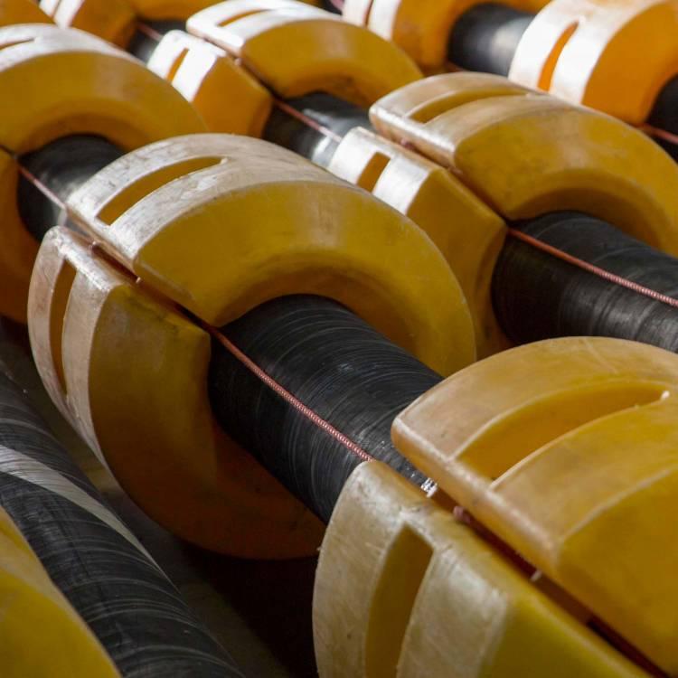 Baggerleiding drijvers, plastic pijp drijvers