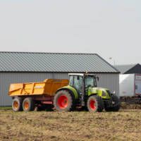 hire, rent tractor with dumper
