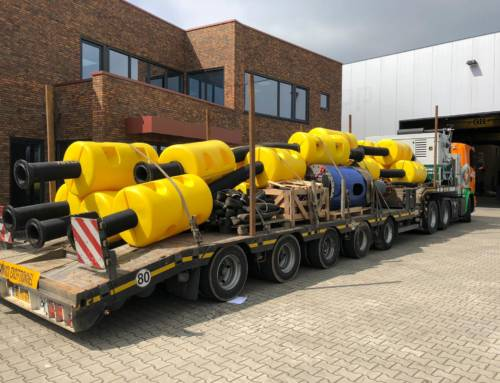 Complete dredging set on the way to Belgium